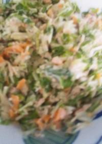 水菜とツナのサラダ  ★サンドイッチの具