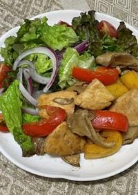鶏むね肉とパプリカの味噌炒め
