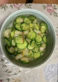 白菜と胡瓜のおかか和え