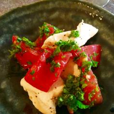 トマトチキンのパセリ和え♩