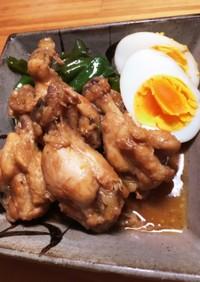 圧力鍋で簡単!鶏手羽元とピーマンの黒酢煮