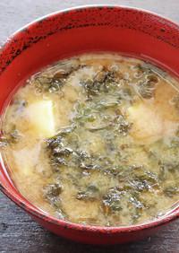 岩のりと豆腐の味噌汁