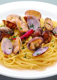 アサリのペペロンチーノ生スパゲティ