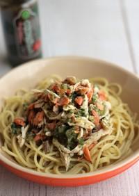 鮭の大葉おろしスパゲッティ