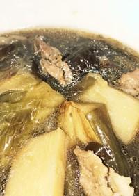 茄子と豚肉と長芋の煮浸し