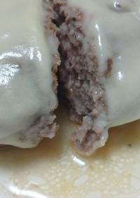 肉汁あふれるひき肉だけチーズハンバーグ