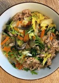 肉野菜うどん (出汁なしでカンタン)