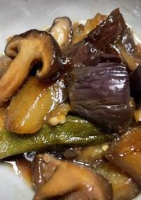 茄子とピーマンと椎茸の煮物