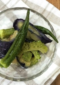 【簡単】夏野菜の煮浸し(茄子とゴーヤ)