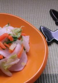 白菜の昆布茶漬け