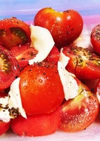簡単カプレーゼ ミニトマト消費