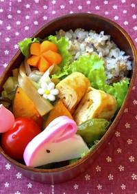 お弁当✿ゆかりと白炒り胡麻の混ぜご飯