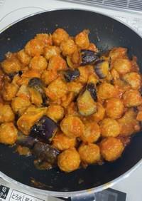 肉団子とナスのトマト煮