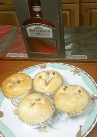 チョコと甘納豆の菓子パン