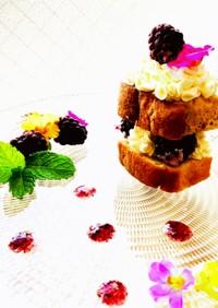 フローズンブラックベリーショートケーキ♪