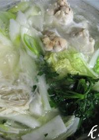 鶏がらスープがたまらない★簡単水炊き