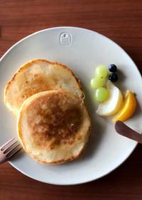 リコッタチーズのふわふわパンケーキ