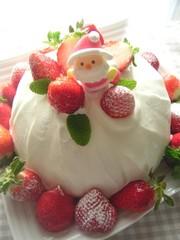 クリスマス☆苺の丘のケーキの写真