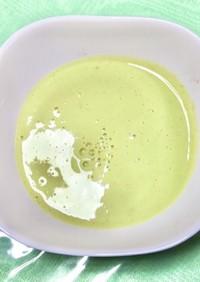 枝豆の豆乳スープ
