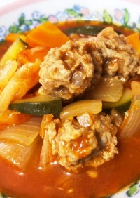 炊飯器deおかずミートボールスープ