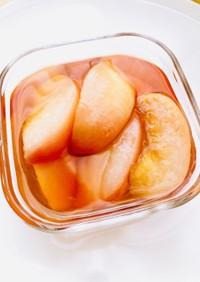 ポリ袋で簡単★桃のコンポート