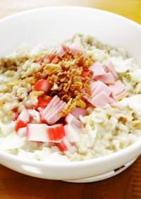 レンジで作るオートミール・ミルク味噌粥