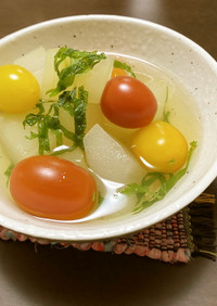 冬瓜とミニトマトのスープ