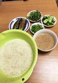 豆乳ごまつゆ素麺