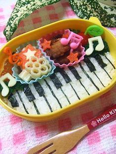 キャラ弁?ピアノ弁当☆