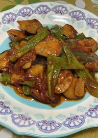 豚バラと茄子の中華風ケチャップ炒め⭐️