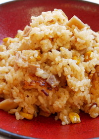 豚肉と蓮根の韓国風炊き込みご飯