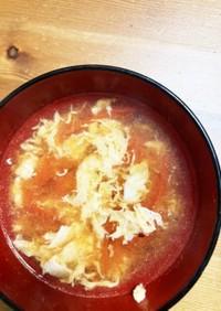 超簡単トマトと卵のスープ