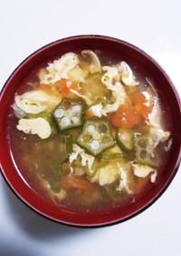 オクラとトマトのサマースープ