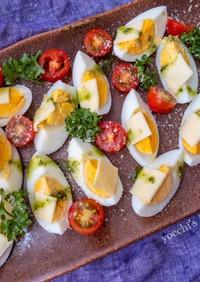 簡単驚きの一工夫!イタリアンゆで卵