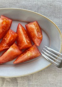 簡単|副菜|トマトのガーリックオイル和え