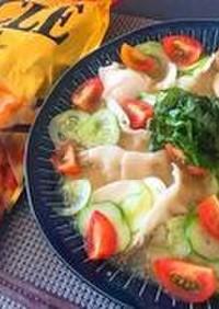低糖質餃子の夏の冷や汁アレンジレシピ