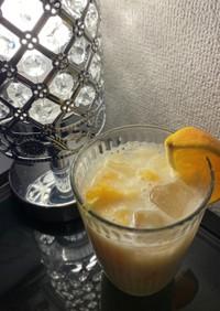 簡単!スキムミルクでオレンジ牛乳。