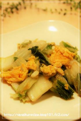 白菜たまご♡中華味