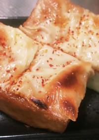 厚揚げのにんにく味噌チーズ焼き