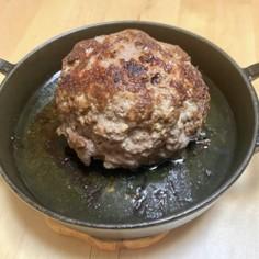 肉!肉汁♫肉肉しいお肉だけジャンボバーグ