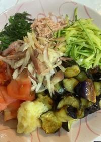 野菜たっぷり素麺 覚書き