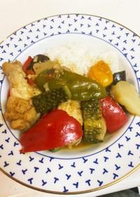 夏野菜どっさりあっという間のスープカレー