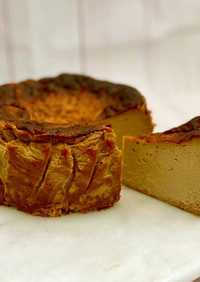 濃厚♪コーヒー味のバスクチーズケーキ