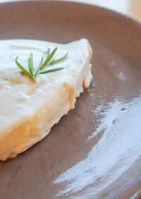 簡単!れもんバターのレアヨーグルトケーキ