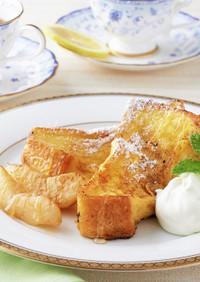 桃のフレンチトースト