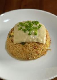 ドライ納豆キムチチーズ炒飯♪