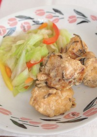 鶏むね肉のマヨポン酢和え