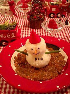 クリスマスにピッタリ!スノーマンカレー!