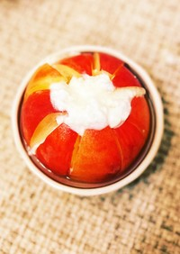簡単オシャレな桃デザートにする方法!