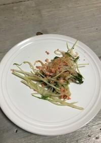 水菜と白滝の明太子炒め